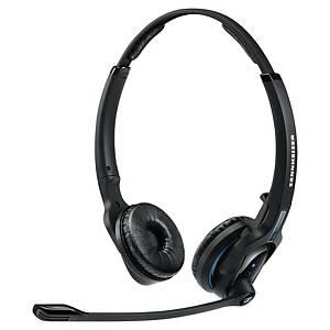 Sennheiser MB PRO 2 UC fejhallgató, akár 15 órán át használható, két fülre