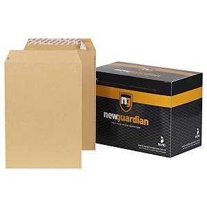 New Guardian Manilla C4 Peel And Seal Plain Envelopes 125gsm - Box of 250