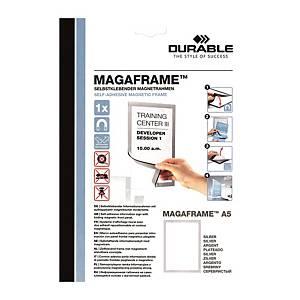 Durable Duraframe 自動黏貼磁石框 A5 銀色
