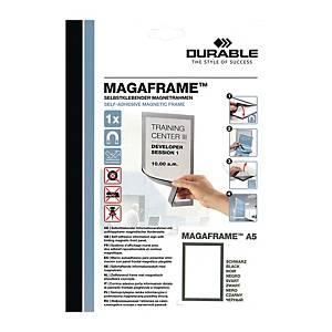 Durable Duraframe 自動黏貼磁石框 A5 黑色