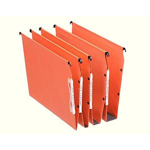 Esselte 21630 Lateral Suspension File 50mm base A4 Orange - Pack of 25