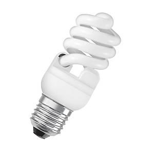Lampe économique OSRAM Dulux Twist E27, 15W, 827 blanc ultra chaud, 900 lm, mate