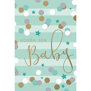 Greeting cards baby birth nl - pack of 6