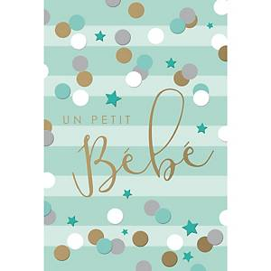 Greeting cards baby birth fr - pack of 6