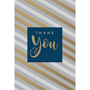 Greeting cards thank you - pack of 6