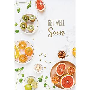 Greeting cards get well soon - pack of 6