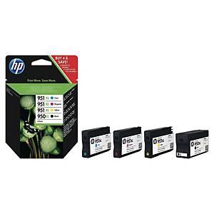 Cartouche d encre HP 950XL/951XL - C2P43AE - noire + 3 couleurs