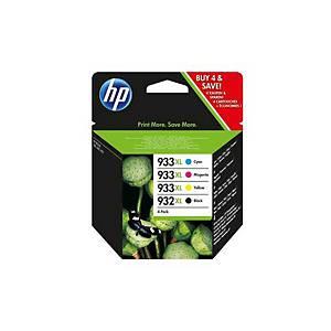 Tintenpatrone HP No.932XL/933XL C2P42AE, Multipack, Packung à 4 Stück