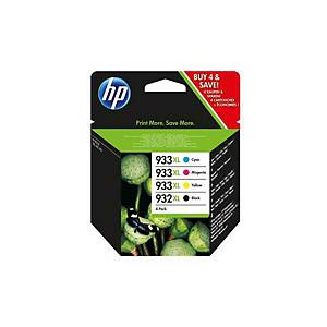 Cartuccia HP No.932XL/933XL C2P42AE, Multipacco, 4 pzi