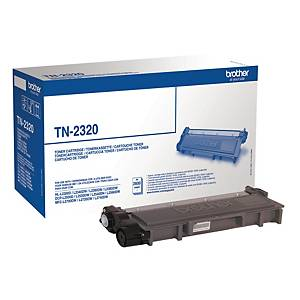 Lasertoner Brother TN2320, 2 600 sider, sort