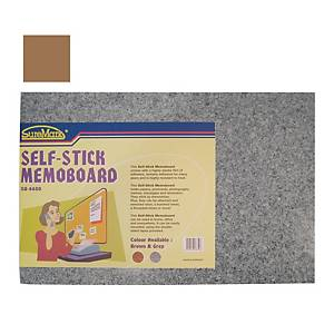 Suremark Self Stick Brown Memo Board 60 X 40cm Brown