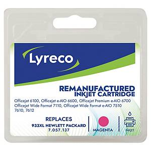 Tintenpatrone Lyreco komp. mit HP CN055A - 933 XL, Inhalt: 8,5ml, magenta
