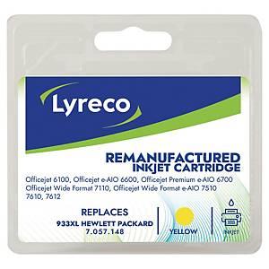 Tintenpatrone Lyreco komp. mit HP CN056A - 933 XL, Inhalt: 8,5ml, gelb