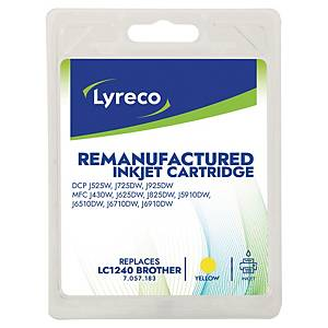 Lyreco Inkjet Compatible Cartridge Brother LC-1240 Yellow