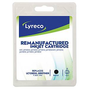 Lyreco Inkjet Compatible Cartridge Brother LC-1280 XL Black