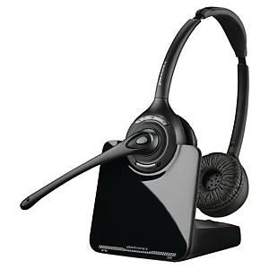 Plantronics CS520A draadloze telefoon headset, binauraal met 2 oorschelpen