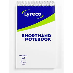 Lyreco Shorthand Notebook Ruled 203x127mm - Pack Of 10