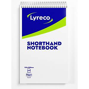 Lyreco Shorthand Notebook Ruled 203x127mm - Pack Of 6