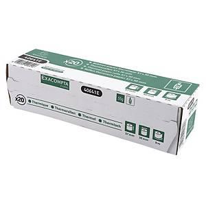 Exacompta telrollen thermisch papier 40641E 57x30x9 55g - pak van 20