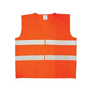 High visibility safety vest orange