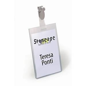 Porte-badge Durable 8142 avec pince verticale, 60 x 90 mm, le paquet de 25