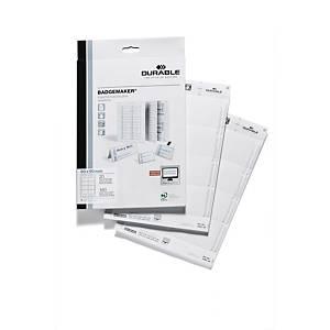 Einsteckschilder Durable 1456, 60x90mm, weiß, 160 Stück