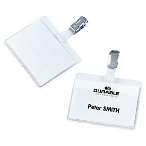 Durable Namensschild mit Clip, 60 x 90 mm, 25 Stk/Pack