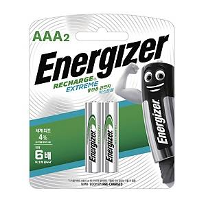 PK2 ENERGIZER AAA RECHARGE BATTERIES RXO