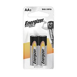 에너자이저 알카라인 건전지 AA 2개입