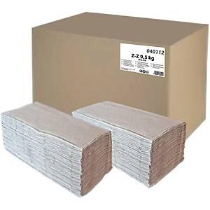 Skladané papierové utierky PrimaSoft ZZ 040112, sivé