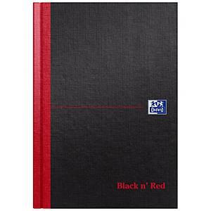 Oxford Black n  Red A5 Hardback Casebound Notebook Ruled A-Z Index 192 Pg Black