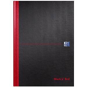 Oxford Black n  Red A4 Hardback Casebound Notebook Ruled A-Z Index 192 Pg Black