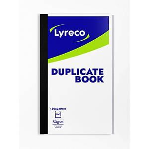 Lyreco Duplicate Book 213x127mm 100-Sheets