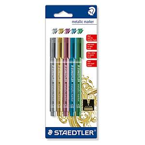 Metallic penn Staedtler, pakke à 5 farger