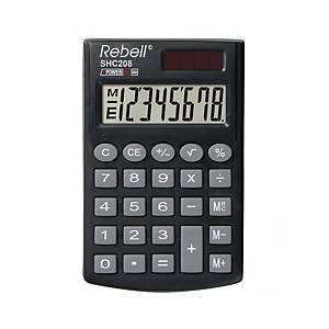 Rebell SHC208 Taschenrechner, 8-stelliges Display