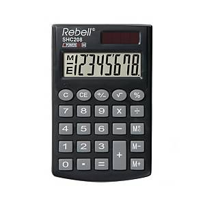 REBELL SHC200N POCKET CALCULATOR 8DIGIT