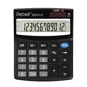 Rebell SDC412 Tischrechner mit 12-stelligem Display