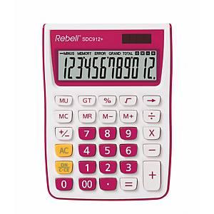 Stolní kalkulačka Rebell SDC912+, 12-místný displej, růžová
