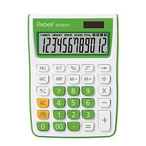 Stolní kalkulačka Rebell SDC912+, 12-místný displej, zelená