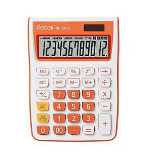 Rebell SDC912+ stolová kalkulačka s 12-miestnym displejom, oranžová