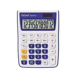 Stolní kalkulačka Rebell SDC912+, 12-místný displej, fialová