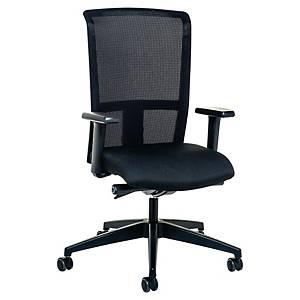 Prosedia 3462 bureaustoel met synchroon mechanisme, stof, zwart