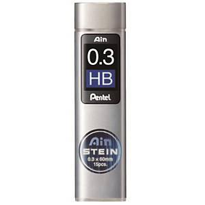 펜텔 PENTEL 아인슈타인 C273 샤프심 HB 0.3mm 15본입 (10개 구매시 갑구성)
