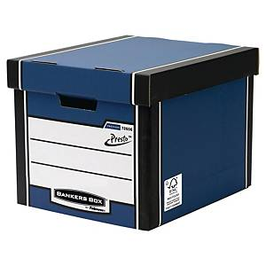 Fellowes Bankers Box Premium Tall Storage Box (Blue) - Pack of 10