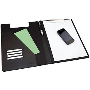 Monolith Black A4 Conference Folder With Clipboard
