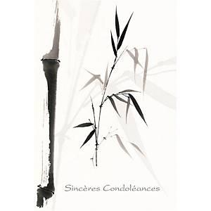 Trauerkarte ABC, 117x173 mm, französisch