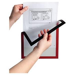 Cadre d affichage Durable Duraframe - A4 - magnétique - rouge - paquet de 5