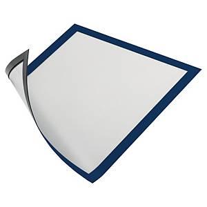 Magnetisk inforamme Durable Duraframe, A4, blå, pakke a 5 stk.