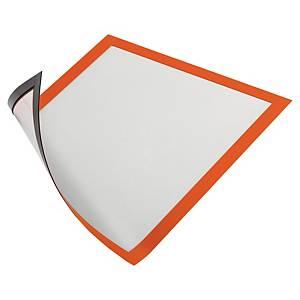 Cadre d affichage Durable Duraframe - A4 - magnétique - orange - paquet de 5