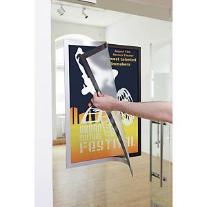 Duraframe Poster Frame, A2, Adhesive, Silver